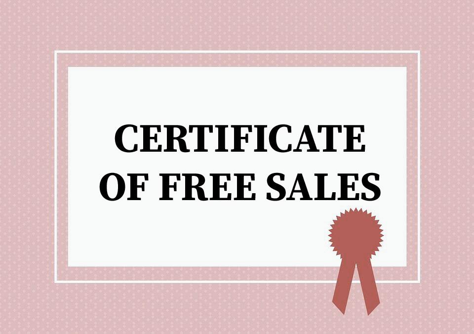 Certificate Of Free Sales